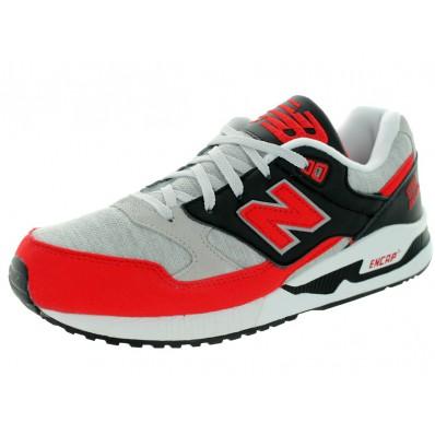 chaussures de running homme rouge et noir new balance