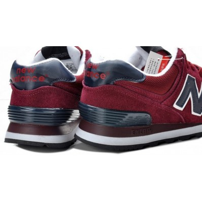 new balance 574 bordeaux bleu