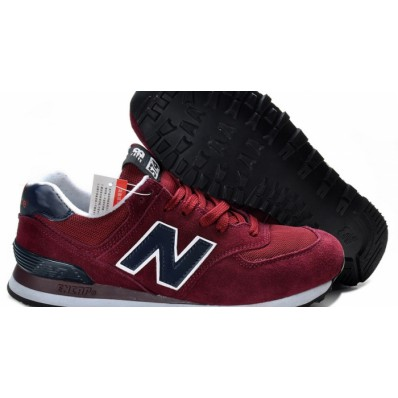 new balance 574 bordeaux marine