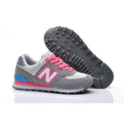 new balance 574 gris con rosa