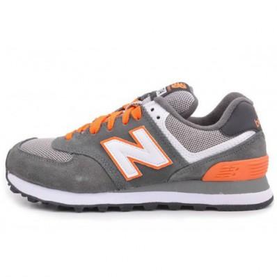 new balance 574 grise orange
