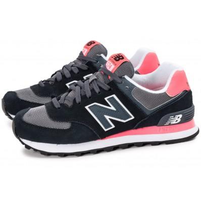 new balance 574 noir et rose