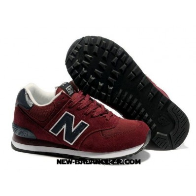new balance 574 noir rouge