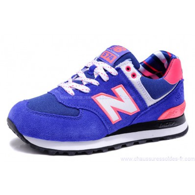 new balance 574 rose et bleu