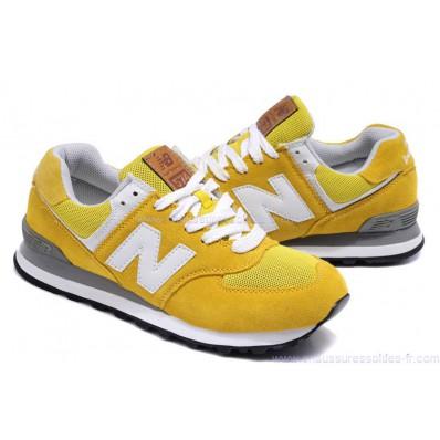 new balance blanc et jaune