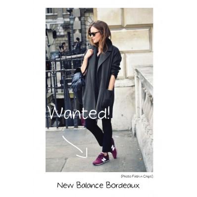 new balance femme bordeaux porté
