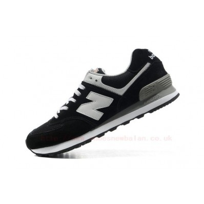 new balance gris con negro