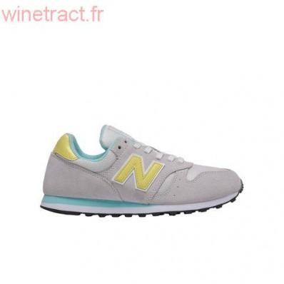 new balance gris jaune bleu