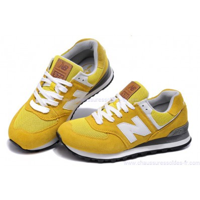 new balance grise et jaune 574