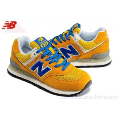 new balance ml574 bleu jaune