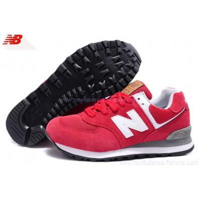 new balance ml574 rouge femme