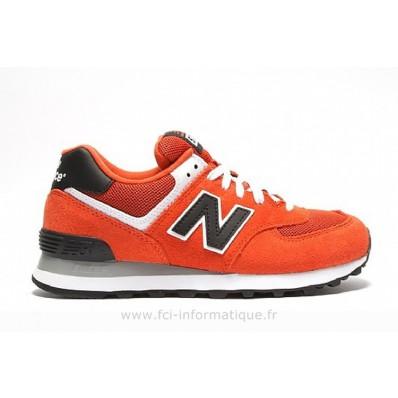 new balance rouge orange femme