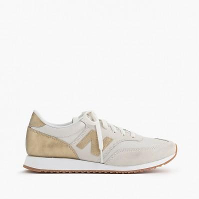 new balance sneaker beige gold