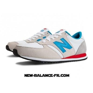 new balance u420 chaussures bleu gris rouge