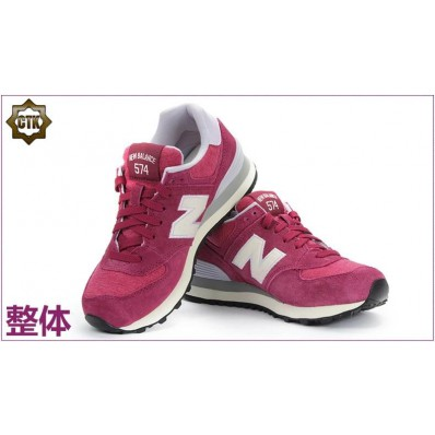 new balance wl574 burgundy femme