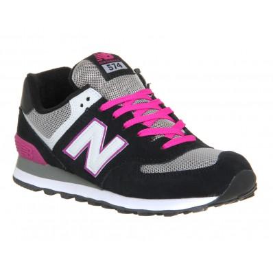 new balance wl574 w chaussures noir rose