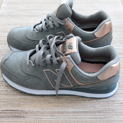 rose gold new balance sneakers