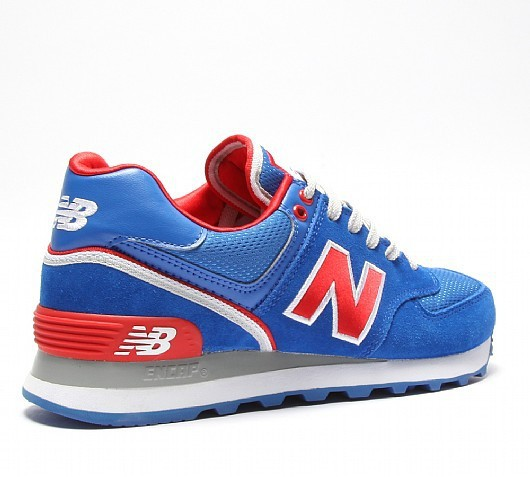 new balance bleu rouge