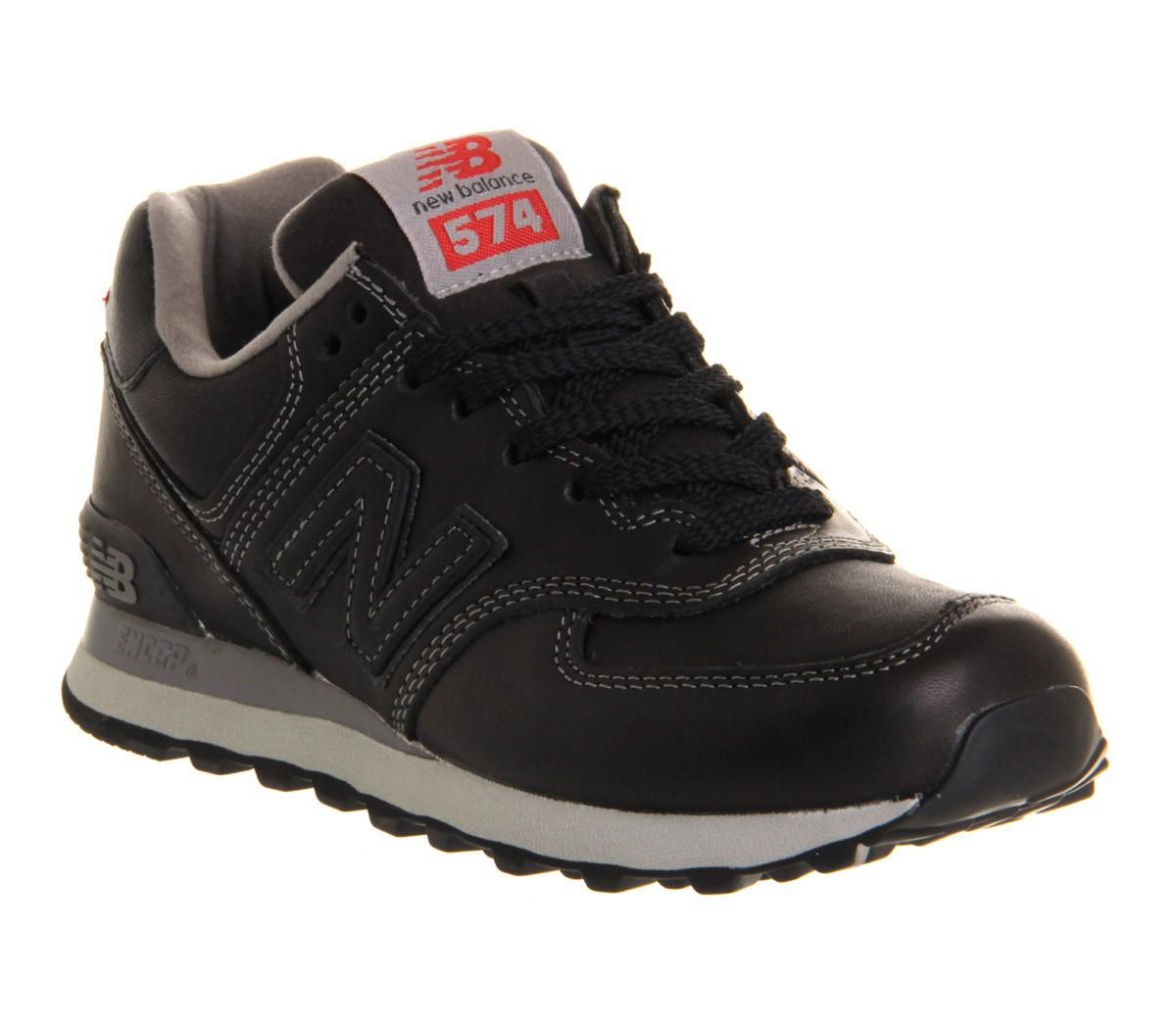 new balance 574 cuir noir homme