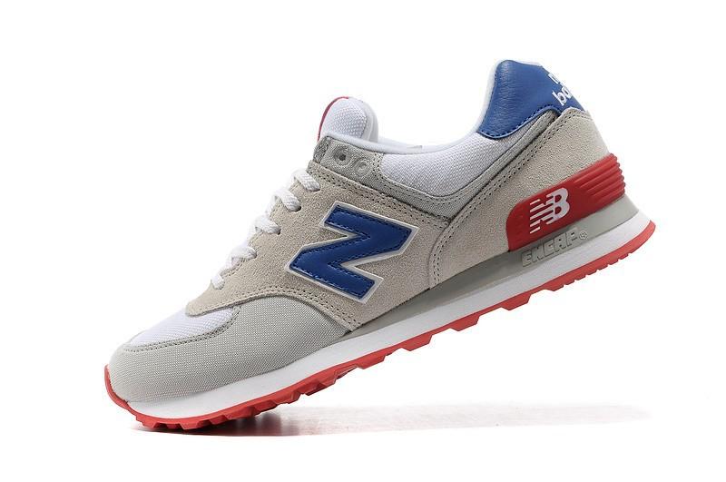 new balance 574 gris bleu rouge
