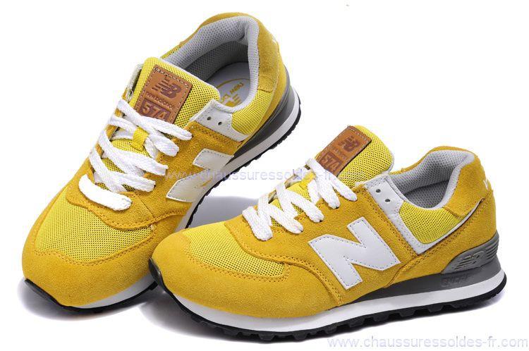 new balance gris et jaune