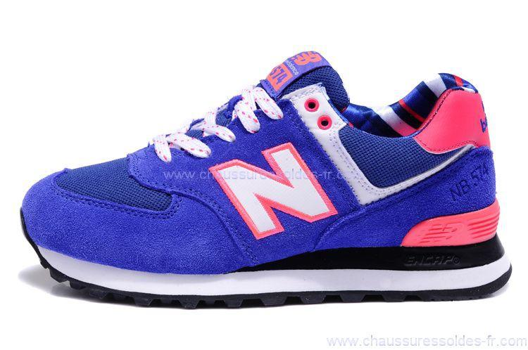 new balance wl574 femme bleu