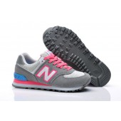 new balance 574 blauw roze