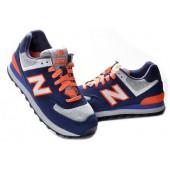 new balance 574 bleu marine et orange