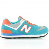 new balance wl574 bleu et orange