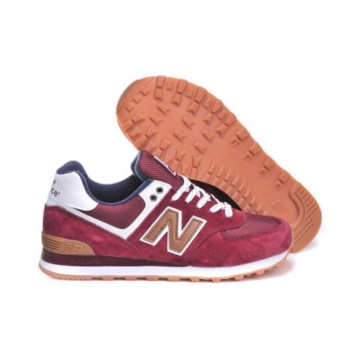new balance 574 rouge daim