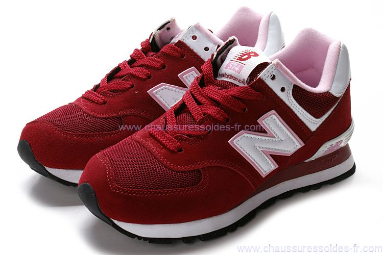 new balance 574 rouge vin