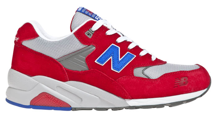 new balance 580 homme rouge