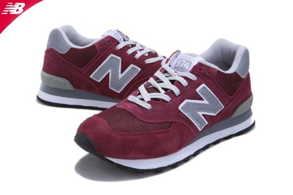 new balance rouge bordeaux gris