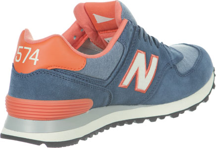 new balance wl574 gris orange